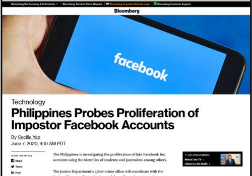 Facebook Spoofing: Your Reputation, Investigations, and Massive Data Collection